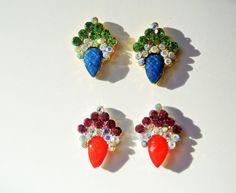 4 pcs of 3d nail art 2 pcs of red and 2 pc of blue by GlamourFavor
