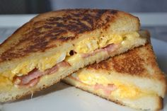Cuban Sammies I made. Breakfast And Brunch, Breakfast Recipes, Lunch Snacks, Snack Bar, Cold Dishes, Sandwiches, Fabulous Foods, Different Recipes, Diy Food