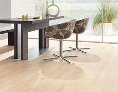 Natural white oak floor. White Oak Laminate Flooring, White Oak Floors, Engineered Wood Floors, Hardwood Floors, Oak Flooring, Armstrong Flooring, New Homes, Inspiration, Canadian Maple