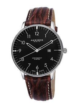 Akribos XXIV Men's Date Strap Watch on HauteLook