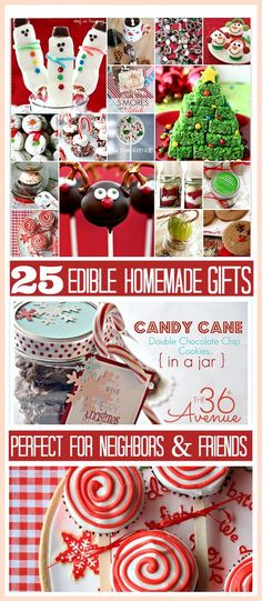 25 Adorable Homemade Christmas Edible Gifts... So Yummy And Cute. Perfect For Neighbors And Friends :) The36Thavenue.com