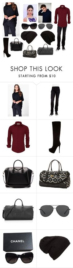 """""""I can do normal."""" by melissa-bvb ❤ liked on Polyvore featuring Boohoo, Hudson Jeans, Giuseppe Zanotti, Givenchy, Rip Curl, Uri Minkoff, Michael Kors and Chanel"""