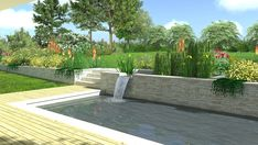 Pohled na koupací jezírko s vodním přepadem #flowergarden #garden #familygarden #landscapearchitect  #praque #zahradniarchitekt #praha #zahrada #moderngarden #rodinnazahrada #czechgarden #letemkvetem #mywork Praha, Garden Ideas, Outdoor Decor, Home Decor, Decoration Home, Room Decor, Landscaping Ideas, Backyard Ideas, Home Interior Design