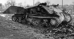 totally destroyed tank | the Sherman was completely outgunned by all three major German tanks ...
