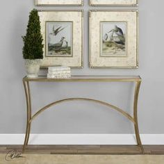 Uttermost Alayna Gold Console Table | Overstock.com Shopping - The Best Deals on Coffee, Sofa & End Tables
