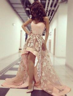 pink prom dresses,sweethaert prom dresses,lace prom dresses,prom dresses for teens,high low prom dresses