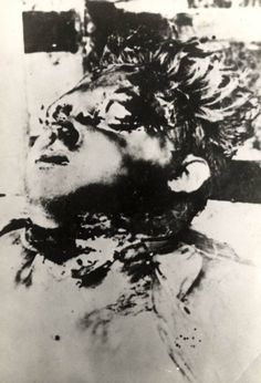 The mutilated body of a child.
