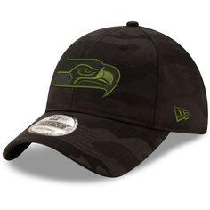 8341bcd75c51f Men s Seattle Seahawks New Era Black Camo Royale 9TWENTY Adjustable Hat