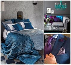 Master Bedroom Ideas-in Moroccan blue and violet