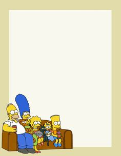 The Simpsons Blank Sheet . free to use and free to share for personal use. Simpsons Party, The Simpsons, Lined Writing Paper, Paper Art, Paper Crafts, Stationery Paper, Paper Envelopes, Note Paper, Animal Party