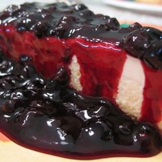 Huckleberry Cheese Cake, Anyone? - Wild Huckleberry Lovers -- huckleberry cheese cake lovers, here are some recipes . Huckleberry Pie Filling on top