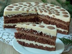 Mleczny tort serowy Polish Desserts, Polish Recipes, Cake Templates, Cheesecakes, Cake Cookies, Sweet Recipes, Deserts, Food And Drink, Yummy Food