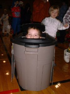 This year Halloween was on the same day as our neighborhood trash pick up day and it made me think about how fun it would be to be a trash can.