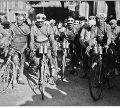 Tour de France. July 5, 1922 Departure from Oloron-Sainte-Marie (Pyrenees).