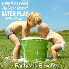 Water play is great fun and not just for Summer!Discover the full benefits of water play and tips to easily incorporate it into your day to day play schedule throughout the whole year.