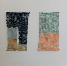 Ashley Helvey weavings at OGAARD Textile work gallery in Oakland
