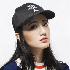 Life tree Embroidered baseball cap for teenage girls casual sports caps
