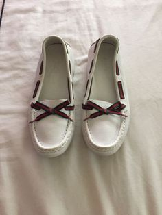 add35bb8bfe2 Gucci Classic White Leather Loafers