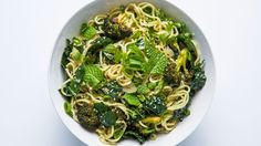 Instead of deep-frying the broccoli in this sesame noodles recipe, we used a high-heat roasting method and swapped the restaurant's sesame brittle for toasted seeds. Similar flavors; easier to make at home.