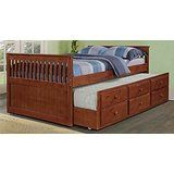 Full Trundle Bed in Light Espresso Finish deals week