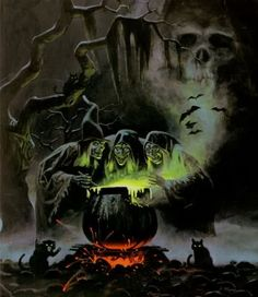 Probably my all-time favorite Halloween image. This IS Halloween. The backside art of the & Horrors& album (Sounds of Halloween). Retro Halloween, Halloween Horror, Holidays Halloween, Halloween Crafts, Happy Halloween, Halloween Decorations, Halloween Witches, Spirit Halloween, Halloween Forum