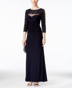 Xscape Illusion Lace Sweetheart Gown | macys.com