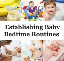 A guide to establishing bedtime routines as part of baby sleep training