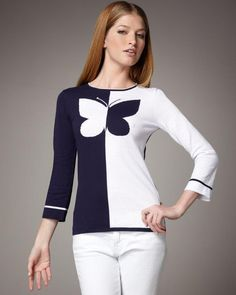 sweter con mariposa