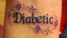 The tattoo that I am trying to convince my mom to get! She is never not going to be a diabetic and I want her to have something practical like this instead of the bracelet that has broken over and over!