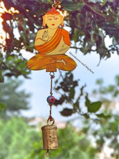 DIVINE HANGING BUDDHA BELL CHIME /  MOBILE