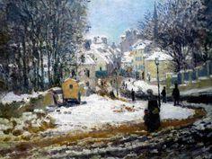 Claude Monet, L'Entree de la Grande-Rue a Argenteuil, l'hiver, (1875)