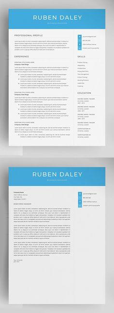 Professional Resume Template (4 Pages) #bestof #resumetemplates