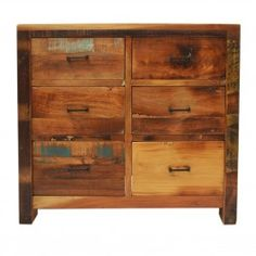 Nirvana Reclaimed timber chest of 6 drawers