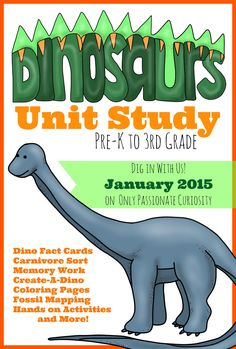 Dino Unit Study: Dinosaur Coloring and Copywork – This month, the kids and I are going to be enjoying a Dinosaur Unit Study, and I hope you join us for the fun! Little Miss is going to be enjoying Dinosaur activities tailored to Dinosaur Facts For Kids, Dinosaurs Preschool, Dinosaur Activities, Hands On Activities, Science Activities, Dinosaur Dig, Dinosaur Crafts, Vocabulary Activities, Dinosaur Birthday