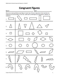 Printables Congruent Polygons Worksheet shape basics congruent shapes worksheets and articles heres a lesson resources for helping students learn about figures