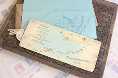 Boarding pass wedding invitations are a fun and unique way to invite guests and perfect for destination weddings where you don't need a passport -- like a wedding in the Florida Keys!