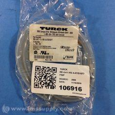 TURCK RK 4.4T-1-RS 4.4T/S1077 EUROFAST MOLDED CORDSET (U-30024)