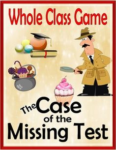 End of the Year Whole Class Game:  Perfect Activity for a rainy day or when you just want to stay inside and play a game.  End of the Year is the perfect time to solve the mystery of who took the test. Pull Out this Holiday Game anytime and have some fun.
