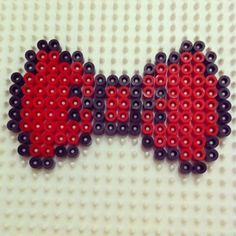 Bow hama beads by suziemay182