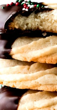 Unlike the butter cookies you may be used to, this homemade version is soft in the center with irresistible buttery vanilla and almond flavors. Best Cookie Recipes, Best Dessert Recipes, Holiday Recipes, Delicious Desserts, Amazing Recipes, Christmas Recipes, Thanksgiving Recipes, Butter Cookies Recipe, Yummy Cookies