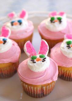 bunny cupcakes happy kids