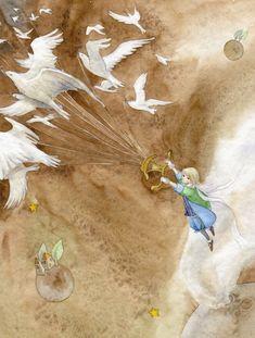 the Little Prince / Illustration. By Ya-Ong Nero. The Little Prince Illustration, Amazing Art, Prince Art, Painting, Cute Art, Illustration Art, Art, Childrens Art, Vintage Illustration