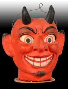 / paper mache devil / halloween lantern /