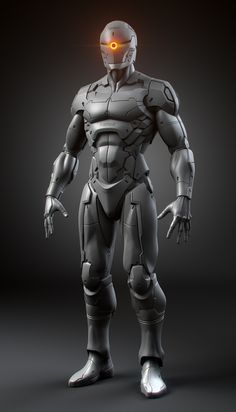 Gray fox Ninja Cyborg inspired from Metal Gear Solid. I'm a big fan of MGS serie and always been impressed by the art of Yoji Shinkawa. Modeled with Zbrush and Mental ray for rendering. Zbrush, Arte Ninja, Arte Robot, Cyberpunk, Character Concept, Character Art, Character Design, Armor Concept, Concept Art