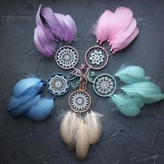 Dreamcatcher for Car Mirror Small Boho Dream catcher Different colours Rear view mirror Car catcher Boho style