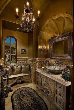 "Gothic Victorian Bathroom <br /><br /> <a href=""www.Facebook.com/uniqueintuitions1"" target=""_blank"">Source</a>"
