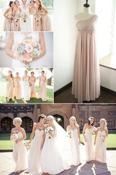 Top 10 Colors for Bridesmaid Dresses - Nude