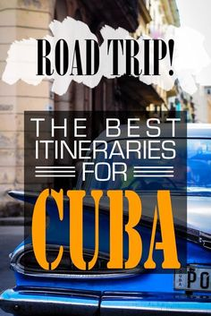 Let us help you plan your trip around Cuba. Short and long itineraries that ensure you'll get all the important things to do locked down!