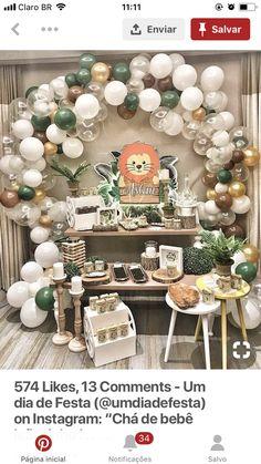 65 Ideas Baby Shower Boy Decorations Safari Birthday Parties For 2019 Baby Shower Cakes For Boys, Baby Shower Decorations For Boys, Baby Shower Centerpieces, Baby Shower Themes, Baby Boy Shower, Shower Ideas, Lion Birthday Party, Rustic Birthday Parties, Baby Birthday