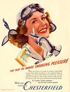 Chesterfield Cigarettes Pilot Girl 1940